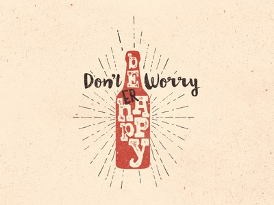 Don't worry be(er) happy tee
