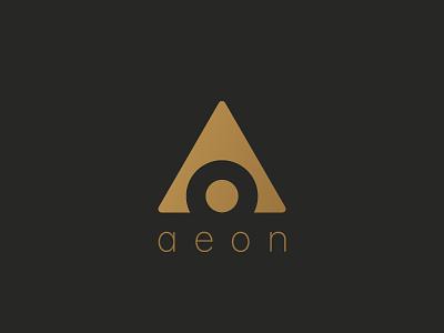 aeon plain simple clean negativespace minimal logo aeon