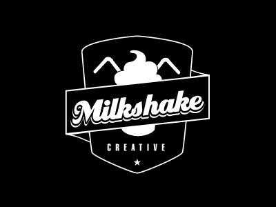 milkshakeCreative logo emblem badge retro black sign milkshake creative