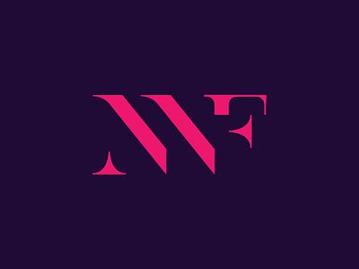 NWF design simple symbol typography clean serif logo minimal logo