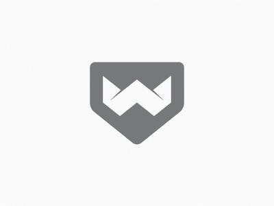 Wizz logo wizz symbol icon origami minimal w