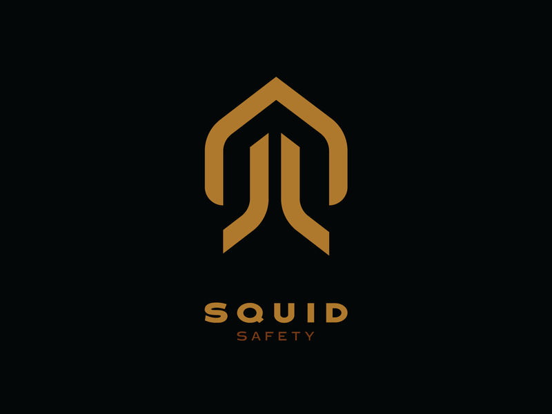 Squid Security simple symbol clean smart minimal logotype squidsecurity squidlogo logodesign squid