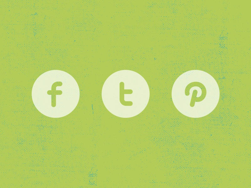 Freebie | Three Social Icons icons free freebie psd download social facebook twitter pinterest get green stroke circle flat icon