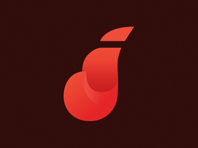 j (WIP) logo red motion bright gradient
