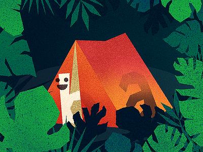 Illustration for FontBase 2 leaves fire funny tent jungle fontbase manager font free