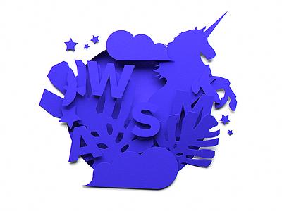 FontBase — Promo Illustration illustration paper leaves jungle purple awesome fontbase