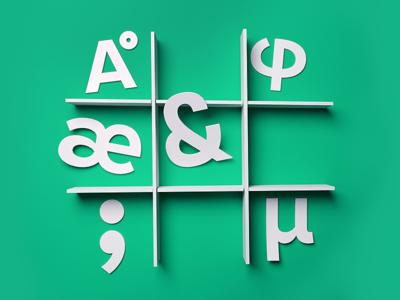 Glyphs — Paper Illustration
