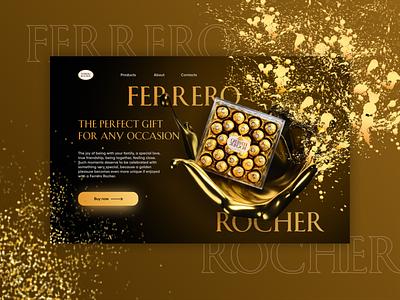 Ferrero Rocher food design banner product design