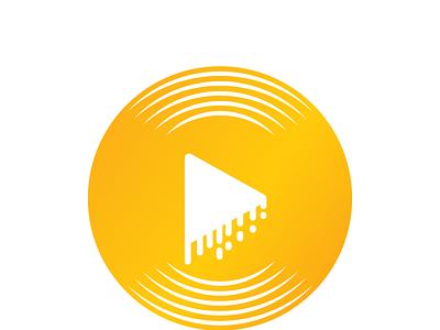 Relax Music design illustration logo
