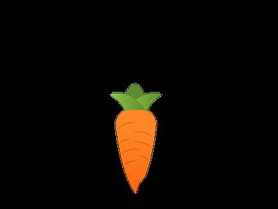 Carrot media design typography illustration logo