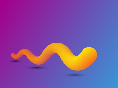 earthworm simple illustration illustration design