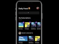 Podcast app re-design