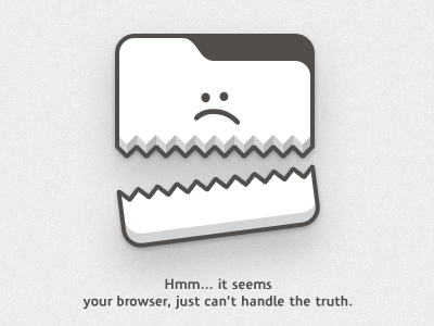 Browser FAIL browser web illustration comic funny cartoon fail brown internet 404 problem standards html5 character sad site graphic design web design