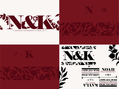 N&K Identity Draft nebraskadesigner support local artists local business illustration logo makeup photography floral idenity branding branding and identity design