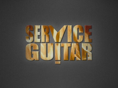 Guitar Logo guitar shaped flying v luthier logo service guitar guitar