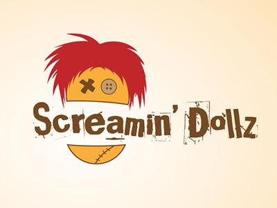 Crazy rock band logo rock band logo logo rock band screaming dolls