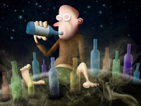 The Drunkard planet