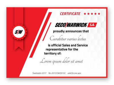 Red Certificate certificat red certificate secowarwick certificate template corporate identity branding certificate