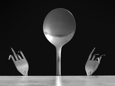 Human Spoon forks man spoon object photo surreal spoon human spoon