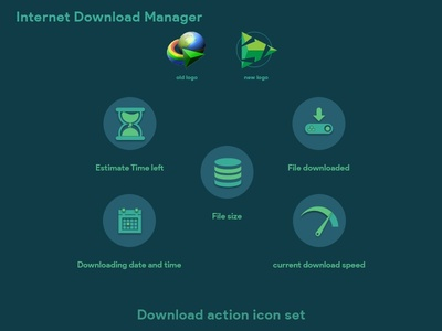 Internet download manager download icon set redesign