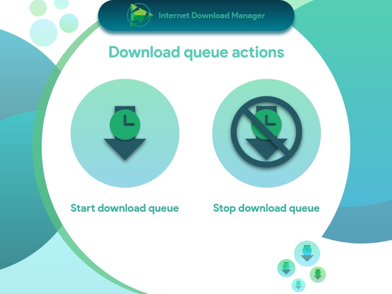 Internet Download Manager : Download Queue Actions software app manual auto green idm schedule watch queue timer start stop