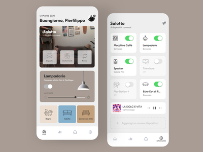 Smart Home App smart smarthouse smart home smarthome coviduicchallenge covid-19 daily ui challenge dailyui redesign concept ux interface ui