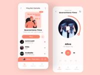 Music Player | Quarantine Playlist music streaming streaming app play apple music spotify music music app music player app music player ui music player covid-19 covid19 dailyui redesign concept ux interface ui