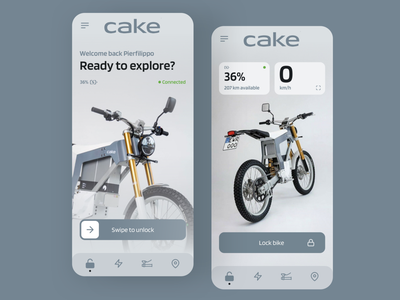 CAKE Connect unlock electric motorcycle cake redesign concept ux interface ui