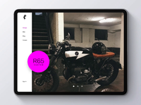 Moto Garage - Swipe Animation