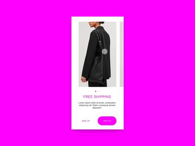 Fashion E-commerce Mobile App UI Design