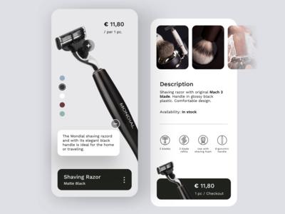 Daily UI #1 | Razor eCommerce App