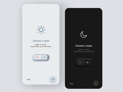 Daily UI #15 | On/Off Switch dark theme dark mode dark light daily ui dailyuichallange daily ui 015 switcher switch on off on off switch daily ui challenge dailyuichallenge dailyui redesign ux concept interface ui