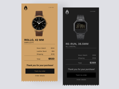 Daily UI #17 | Email Receipt