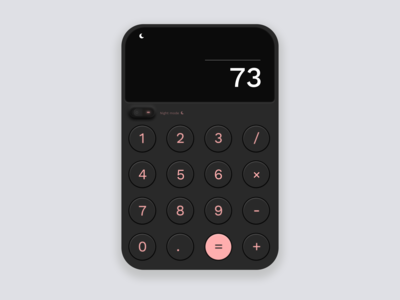 Daily UI #4 | Calculator