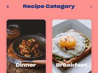 Recipe category