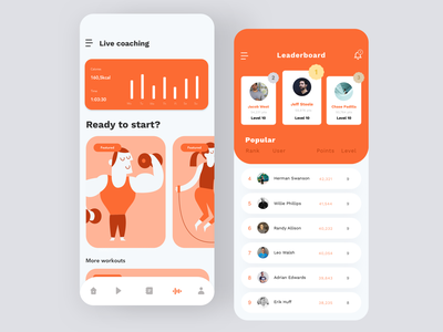 Daily UI #19 | Leaderboard daily 100 workout tracker workout app workout game design game ranking ranking leader leaderboard daily ui 019 daily ui ecommerce dailyuichallenge daily ui challenge dailyui redesign concept ux interface ui