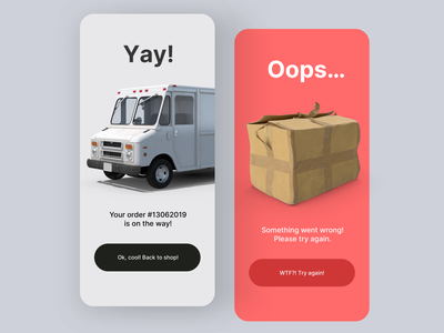 Daily UI #11 | Flash Messages error message shipping container order confirmation shipping popup flash messages flash message daily ui 011 online store ecommerce app ecommerce daily ui dailyuichallenge daily ui challenge dailyui redesign concept ux interface ui