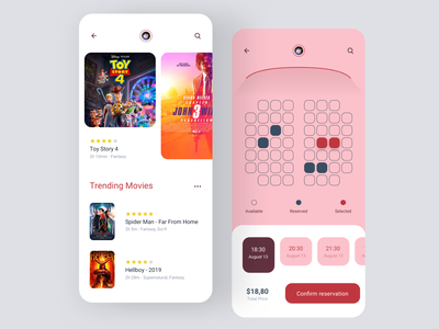 Daily UI #54 | Confirmation cinema app film confirm confirmed confirm reservation cinema ticket app ticket booking confirmation daily ui 054 daily ui dailyuichallenge daily ui challenge dailyui redesign concept ux interface ui
