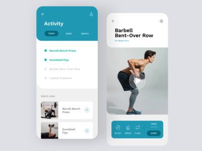 Daily UI #62   Workout of the Day