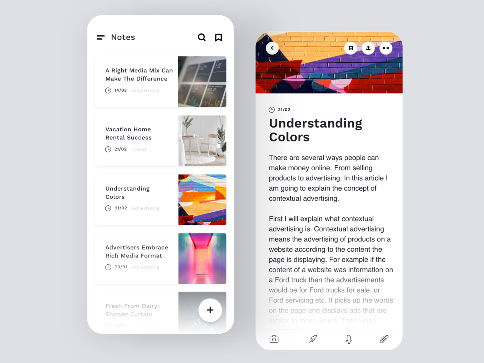 Daily UI #65   Notes Widget by Pierfilippo Ariano on Dribbble