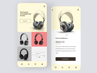 Daily UI #75 | Pre Order ecommence shopping app headphones earphone earphones pre order pre-order preorder daily ui 075 online store ecommerce daily ui dailyuichallenge daily ui challenge dailyui redesign concept ux interface ui