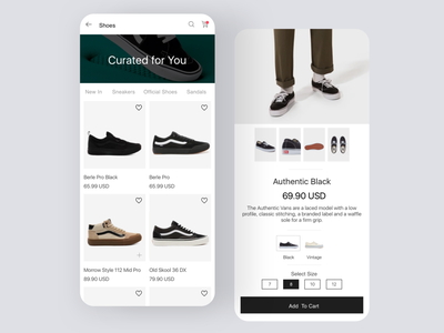 Daily UI #91 | Curated For You vans ecommerce design ecommerce shop ecommerce app shoes collection selection curated curated for you daily ui 091 ecommerce daily ui dailyuichallenge daily ui challenge dailyui redesign concept ux interface ui