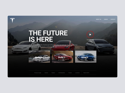 Daily UI #95 | Product Tour - Video video tour product homepage design video tesla daily ui 095 product tour ecommerce daily ui dailyuichallenge daily ui challenge dailyui redesign concept ux interface ui