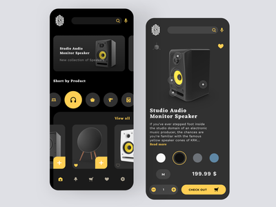 Daily UI #96 | Currently In Stock ecommerce shop shopping app speaker ecommerce app ecommerce design product design product page currently in-stock daily ui 096 online store commerce ecommerce online store dailyuichallenge daily ui challenge dailyui redesign concept ux interface ui