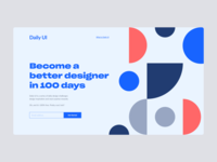 Daily UI #100 | Redesign Daily UI Landing Page 💯