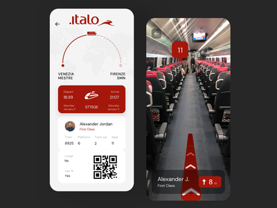 Train Ticket | Augmented Reality travel app train ticket ticket booking ticket app camera app augmented reality ar redesign concept ux interface ui