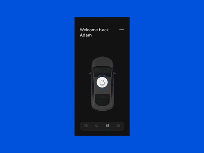 Connected Car | UI Animation Concept blue vui vocal user interface vehicle design vehicle automotive design automotive connected car car app car redesign concept ux interface ui connect