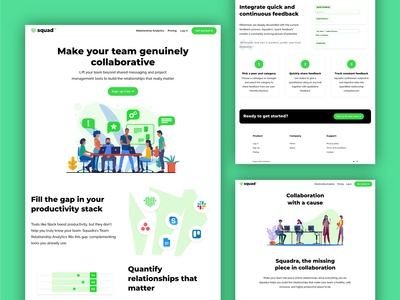 Web design for team analytics tool