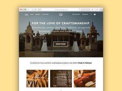 Crafts ecommerce marketplace design