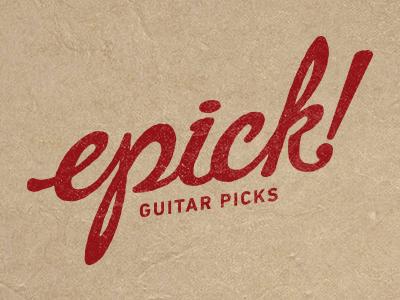 epick guitar picks logo script pic guitar
